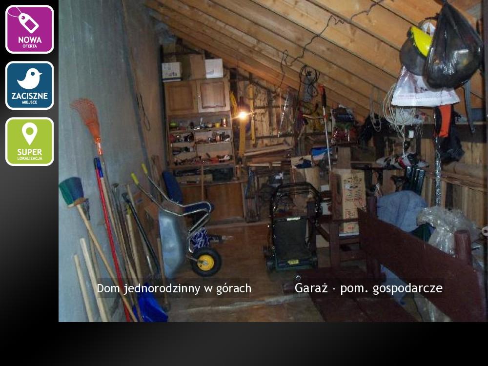 Garaż - pom. gospodarcze