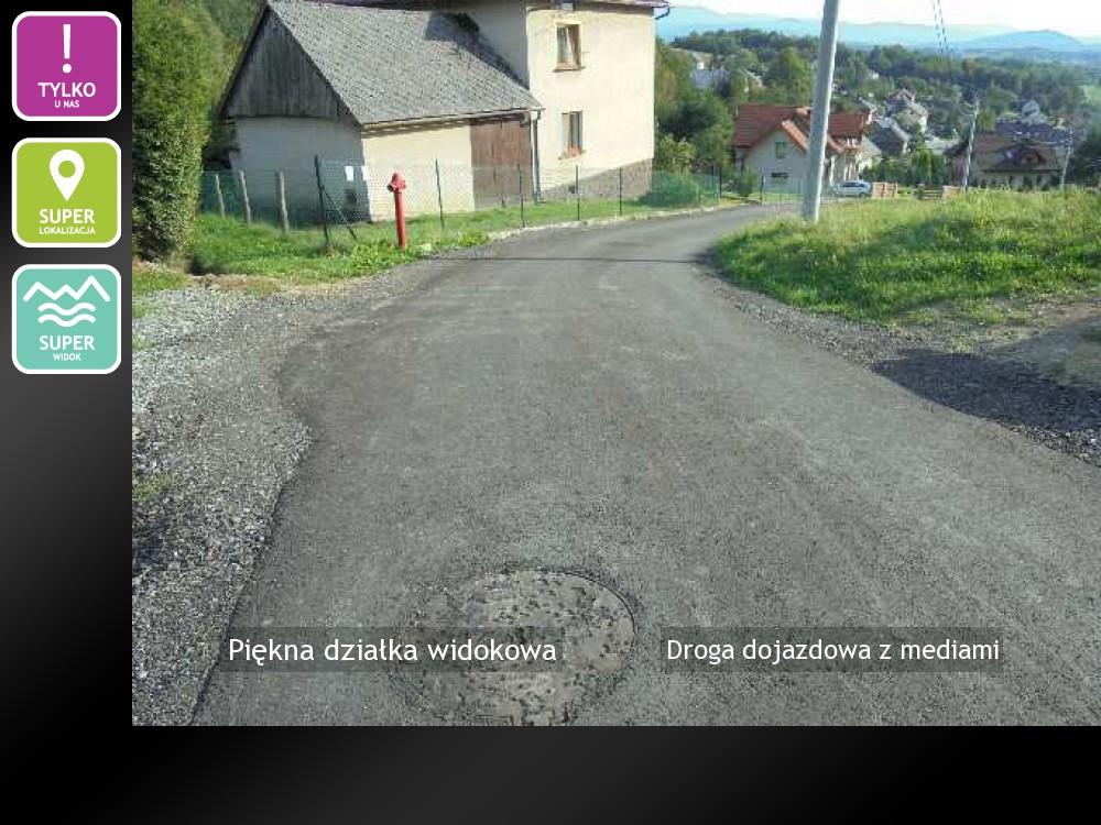 Droga dojazdowa z mediami