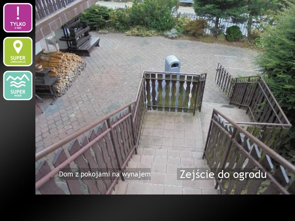 Zejście do ogrodu