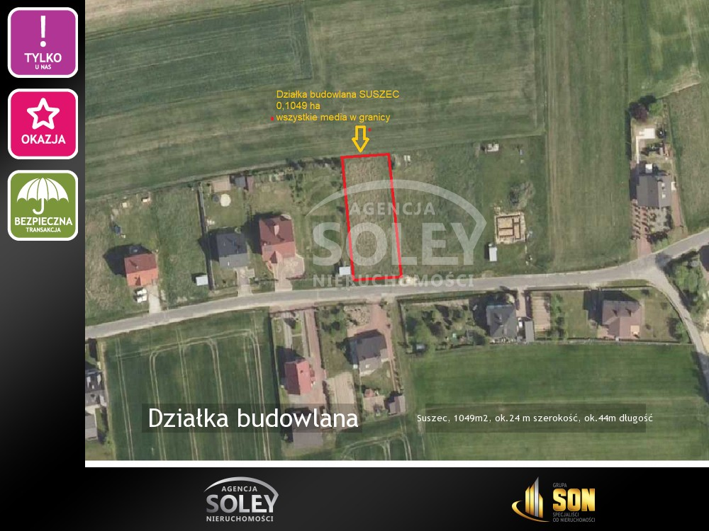 Suszec - Sprzedaż działki