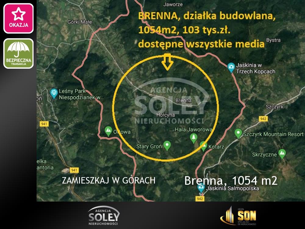 Nieruchomości: Brenna, 1054 m2
