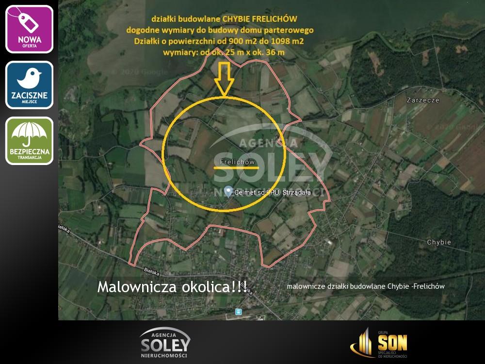 Nieruchomości: działki budowlane Chybie -Frelichów