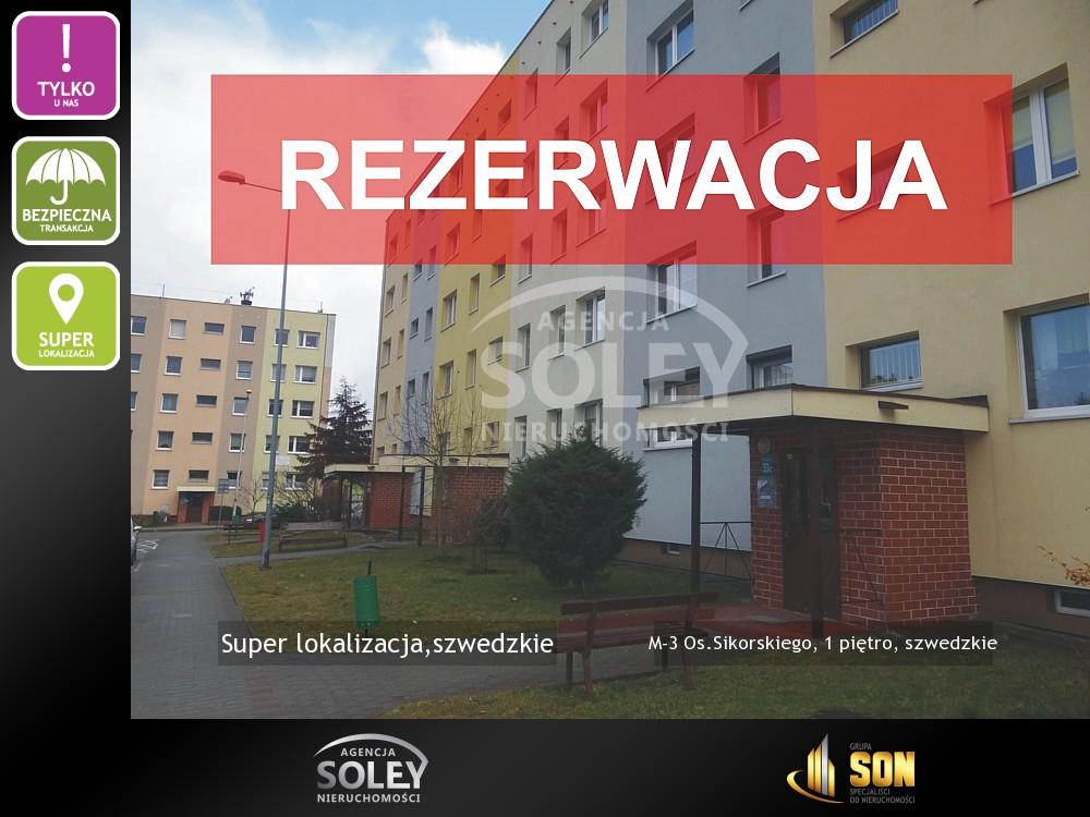 Nieruchomości: M-3 Os.Sikorskiego, 1 piętro, szwedzkie