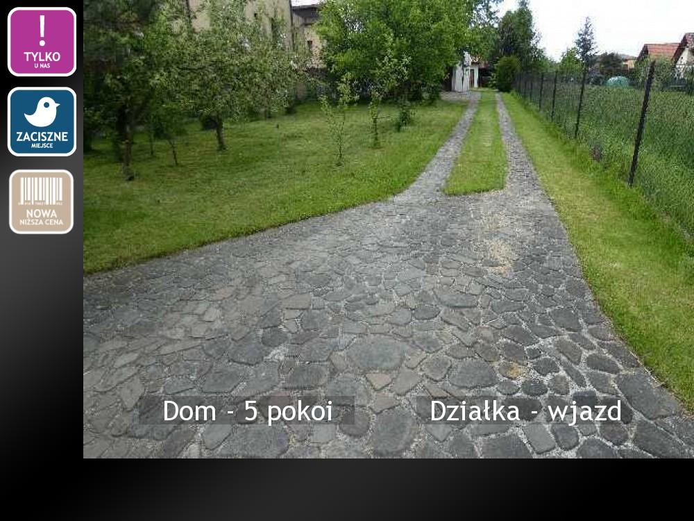 Działka - wjazd